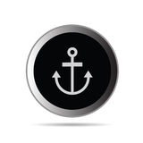 Anchor button vector on a white Royalty Free Stock Photography