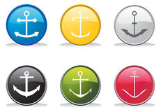 Anchor buttons Stock Image
