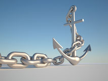 Anchor and chain Stock Photos