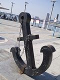 Anchor with chain Stock Photo