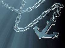 Anchor and chain Stock Photography