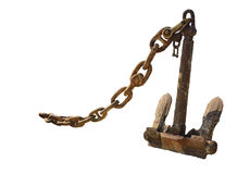 Anchor with chain Royalty Free Stock Photography