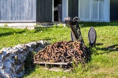 Anchor and chain Stock Images