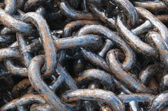 anchor chain, close up Royalty Free Stock Image