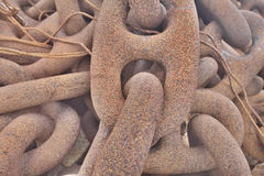 Anchor chain from a huge ship Royalty Free Stock Images