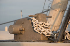 Anchor chain Stock Photo