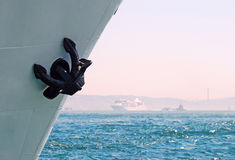 Anchor. Chain on a ship Royalty Free Stock Photography