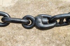 Anchor chain for ship Royalty Free Stock Photos