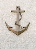 Anchor with chain symbol. Stock Images