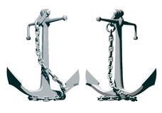 Anchor with the chain Royalty Free Stock Image