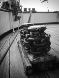Anchor Chains. Close up of the anchor chains on Whaling ship Royalty Free Stock Photo