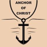Anchor of Christ Necklace Stock Photos