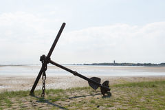 Anchor at the coast Stock Photos