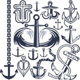 Anchor Collection Royalty Free Stock Images