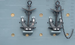 Anchor cruiser Aurora in St. Petersburg, Russia. Royalty Free Stock Photography