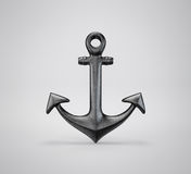 Anchor. 3d illustration anchor  on a grey background Royalty Free Stock Image