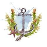 anchor D'isolement sur le fond blanc illustration stock