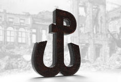 Anchor 3D Warsaw Uprising Poland Fighting Royalty Free Stock Photo
