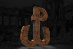 Anchor 3D Warsaw Uprising Poland Fighting Rustical Royalty Free Stock Photography