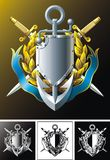Anchor, dirks, badge and ribbon Royalty Free Stock Photo