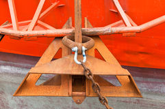 Anchor of Drill Ship Stock Photo