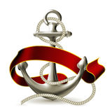 Anchor emblem Royalty Free Stock Images