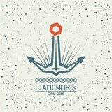 Anchor emblem Royalty Free Stock Image