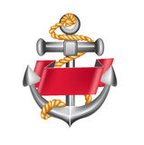 Anchor emblem isolated on white Royalty Free Stock Image
