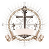 Anchor emblem, vector Royalty Free Stock Images