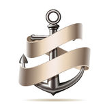 Anchor emblem, vector Stock Image