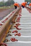 Anchor. The anchor equipment Railway construction Stock Photography