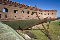 Anchor by Fort Jefferson Stock Images