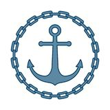 Anchor in frame of chain stock illustration