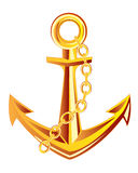 Anchor from gild Royalty Free Stock Photography