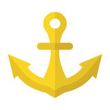 Anchor of gold metal Stock Photography