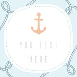 Anchor greeting card template. Royalty Free Stock Photography