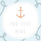 Anchor greeting card template. Vector EPS 10 hand drrawn illustration vector illustration