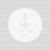 Anchor greeting card template. Vector EPS 10 hand drrawn illustration Royalty Free Stock Photography