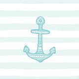 Anchor greeting card template. Vector EPS 10 hand drrawn illustration Royalty Free Stock Images