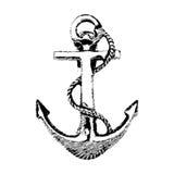 Anchor Hand drawn illustration. Hand drawn illustration of old anchor vector Stock Photos