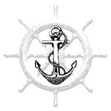 Anchor Hand drawn illustration 2. Hand drawn illustration of old anchor vector 2 Royalty Free Stock Photo