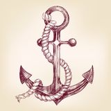 Anchor hand drawn vector llustration. Realistic sketch vector illustration