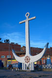 Anchor in the Harbor of Copacabana at Lake Titicaca in Bolivia stock photography