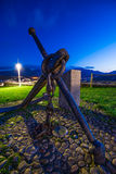 Anchor of the hermitage of Our Lady of Guia. Stock Photo
