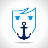Anchor, with human face Stock Image