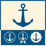 Anchor icon set Stock Image