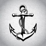 Anchor icon solated, nautical, heavy, iron, symbol Stock Images