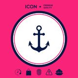 Anchor icon symbol Stock Photography