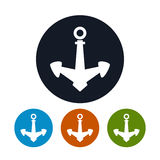 Anchor icon, vector illustration Royalty Free Stock Photos
