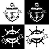 Anchor icon vector, tattoo, logo, grunge, design, floral, hand, Stock Photo